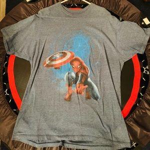 Marvel Civil War Spider-Man men's XL shirt
